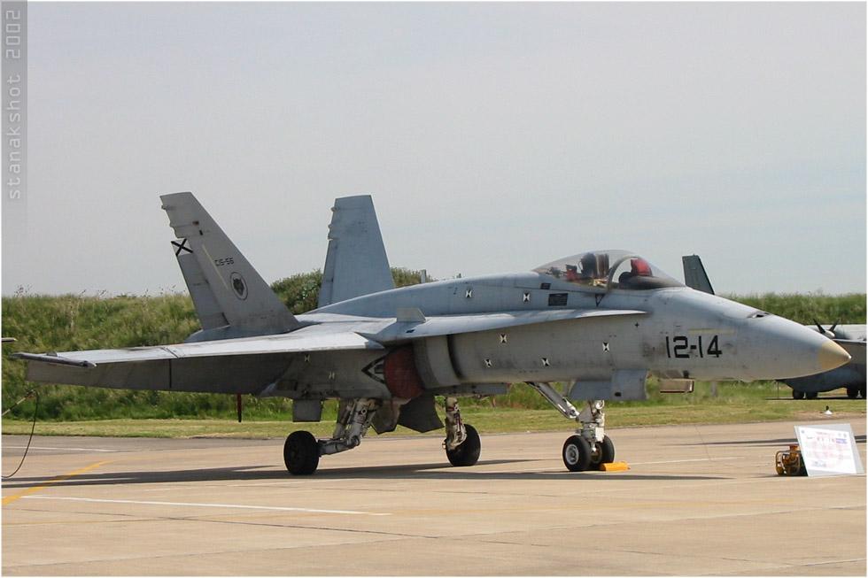 tof#254 F-18 de la Force aérienne espagnole au statique à Orléans (FRA) en 2002