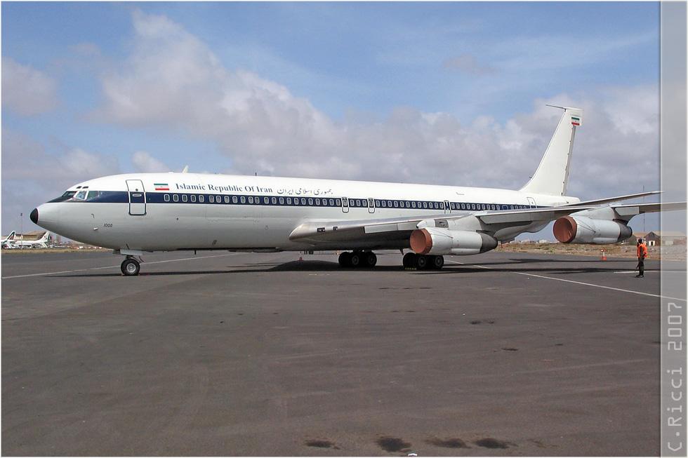 tof#29 B707 du gouvernement iranien au statique à Dakar (Sénégal - air force) en 2007