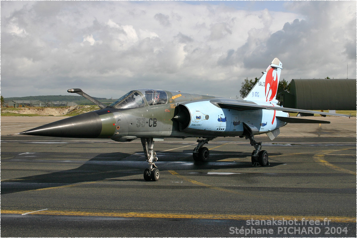 tof#637 Mirage F1 de l'Armée de l'Air française au statique à Reims (France) lors du Meeting National de l'Air 2004