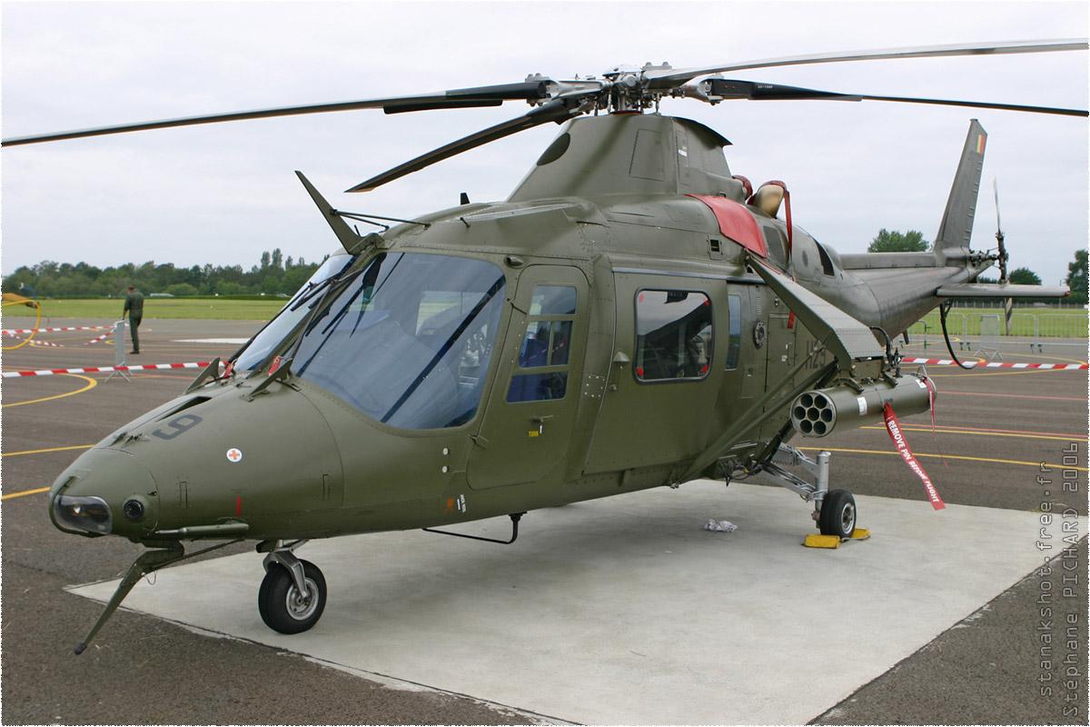 tof#714 A109 de la Force aérienne belge au statique à Dax (France) en 2006