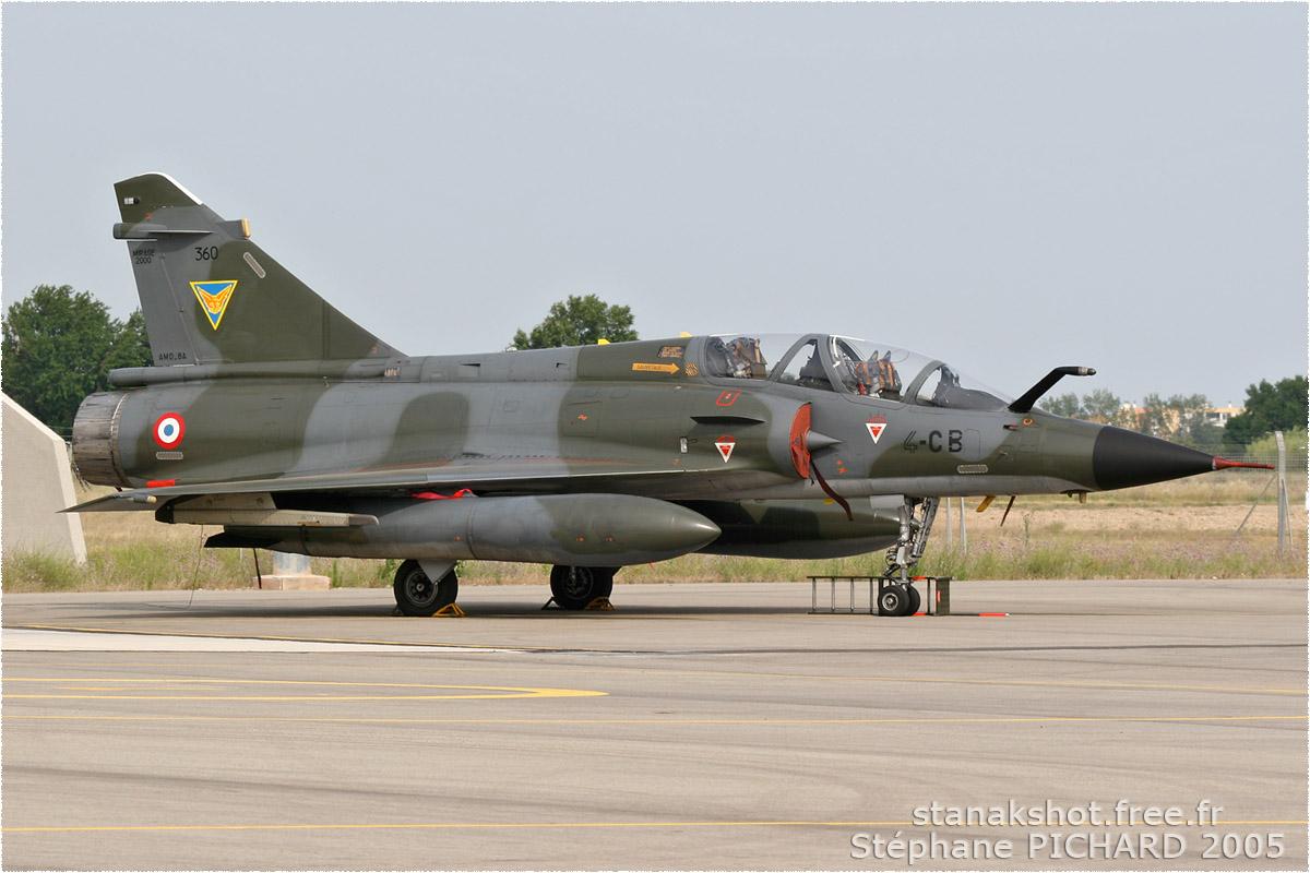 tof#80 Mirage 2000 de l'Armée de l'Air française au statique à Istres (France) lors du Meeting National de l'Air 2005