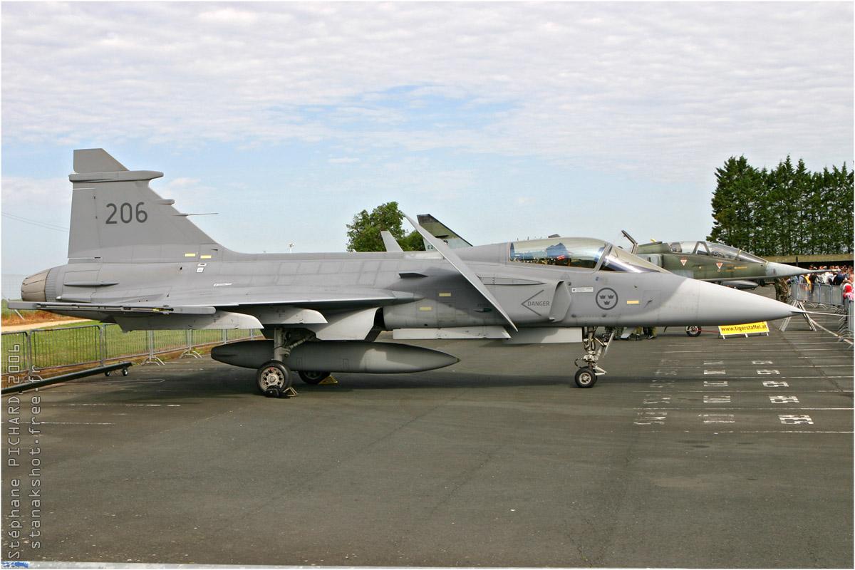 tof#881 Gripen de la Force aérienne suédoise au statique à Rochefort (France) en 2006