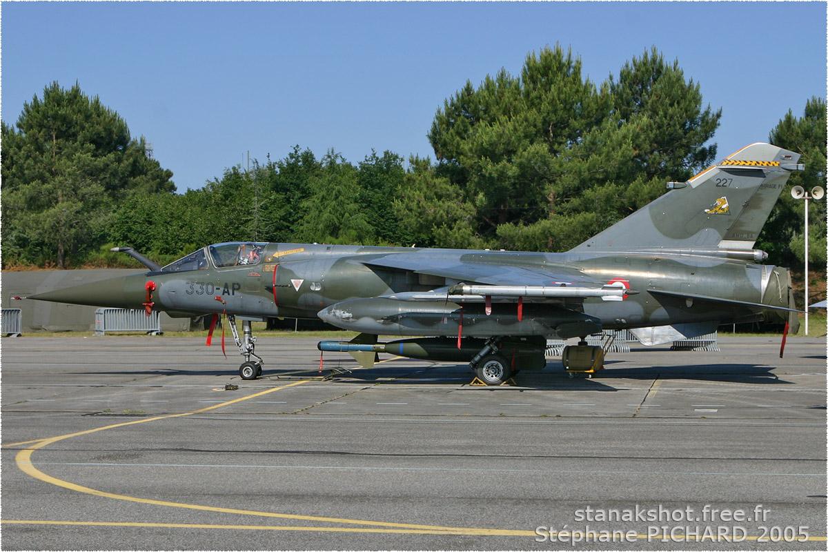 tof#904 Mirage F1 de l'Armée de l'Air française au statique à Cazaux (France) lors du Meeting National de l'Air 2005