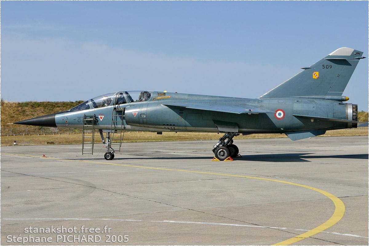 tof#905 Mirage F1 de l'Armée de l'Air française au statique à Cazaux (France) lors du Meeting National de l'Air 2005