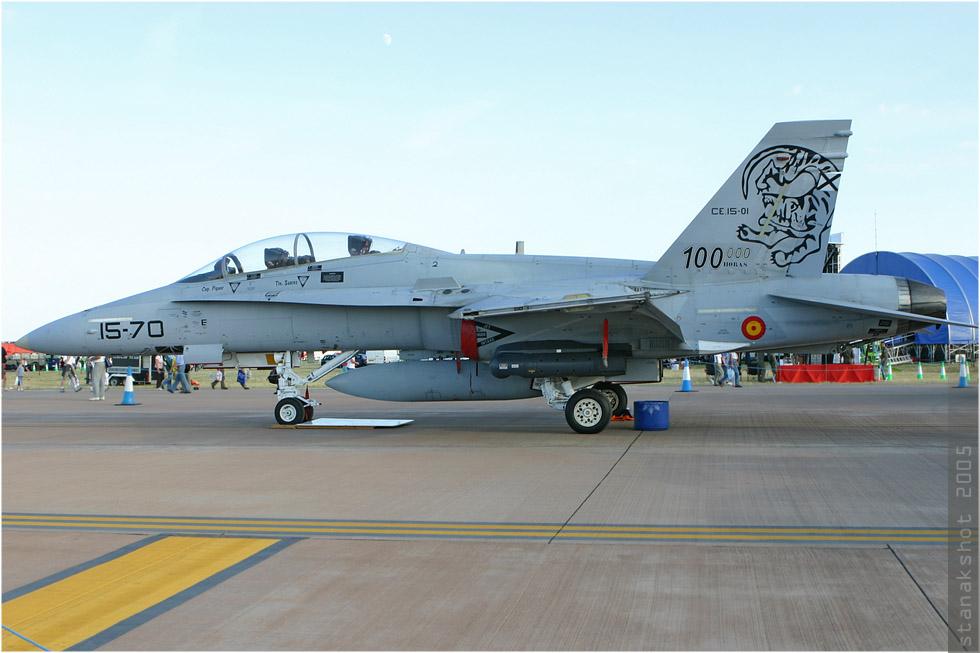 tof#943 F-18 de la Force aérienne espagnole au statique à Fairford (GBR) lors du RIAT 2005