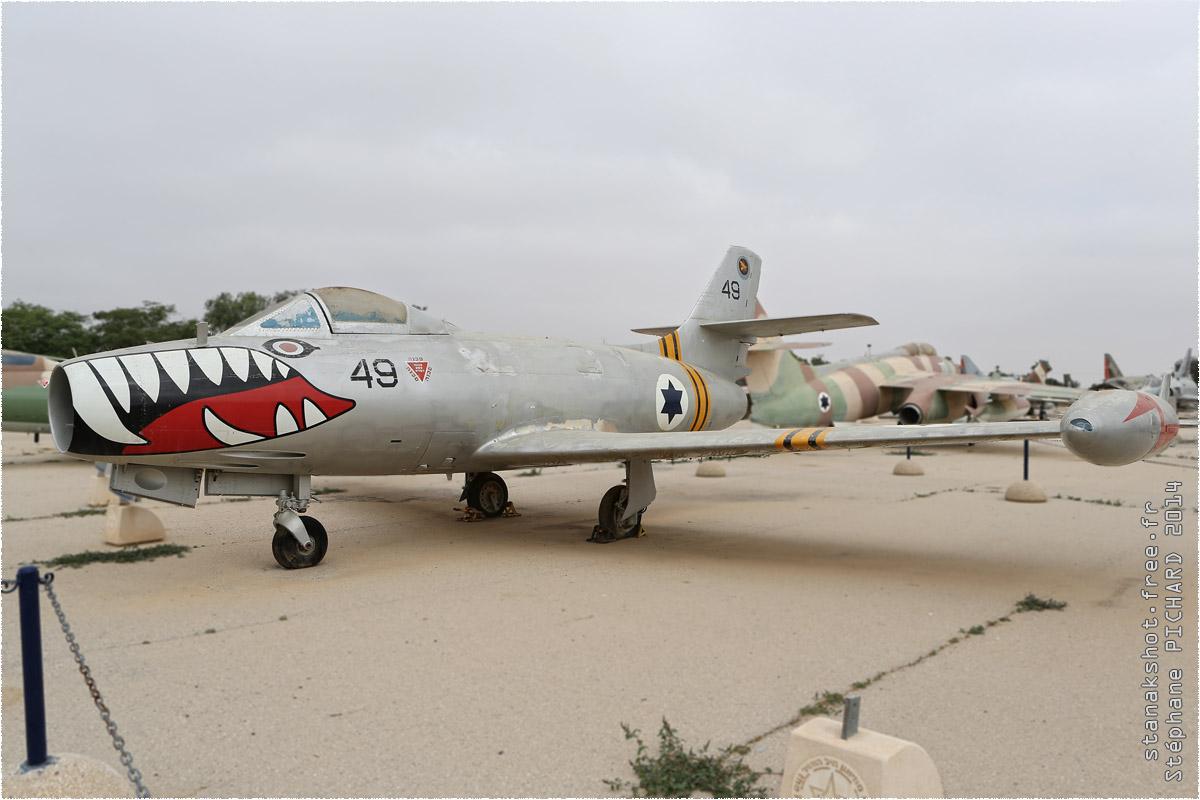 tof#1262 Ouragan de la Force aérienne israélienne au statique à Hatzerim Museum (ISR) en 2014