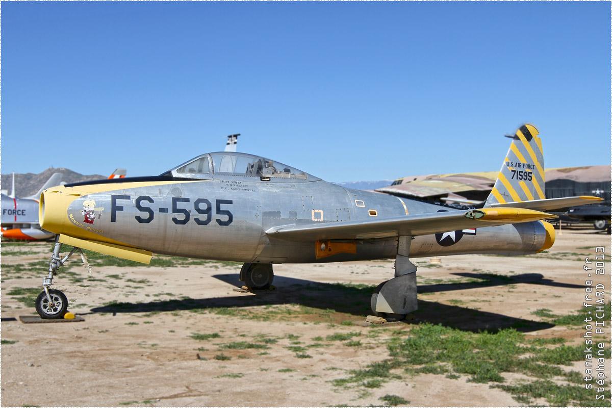 tof#1352 F-84 de l'US Air Force au statique à Riverside (CA, USA) en 2013