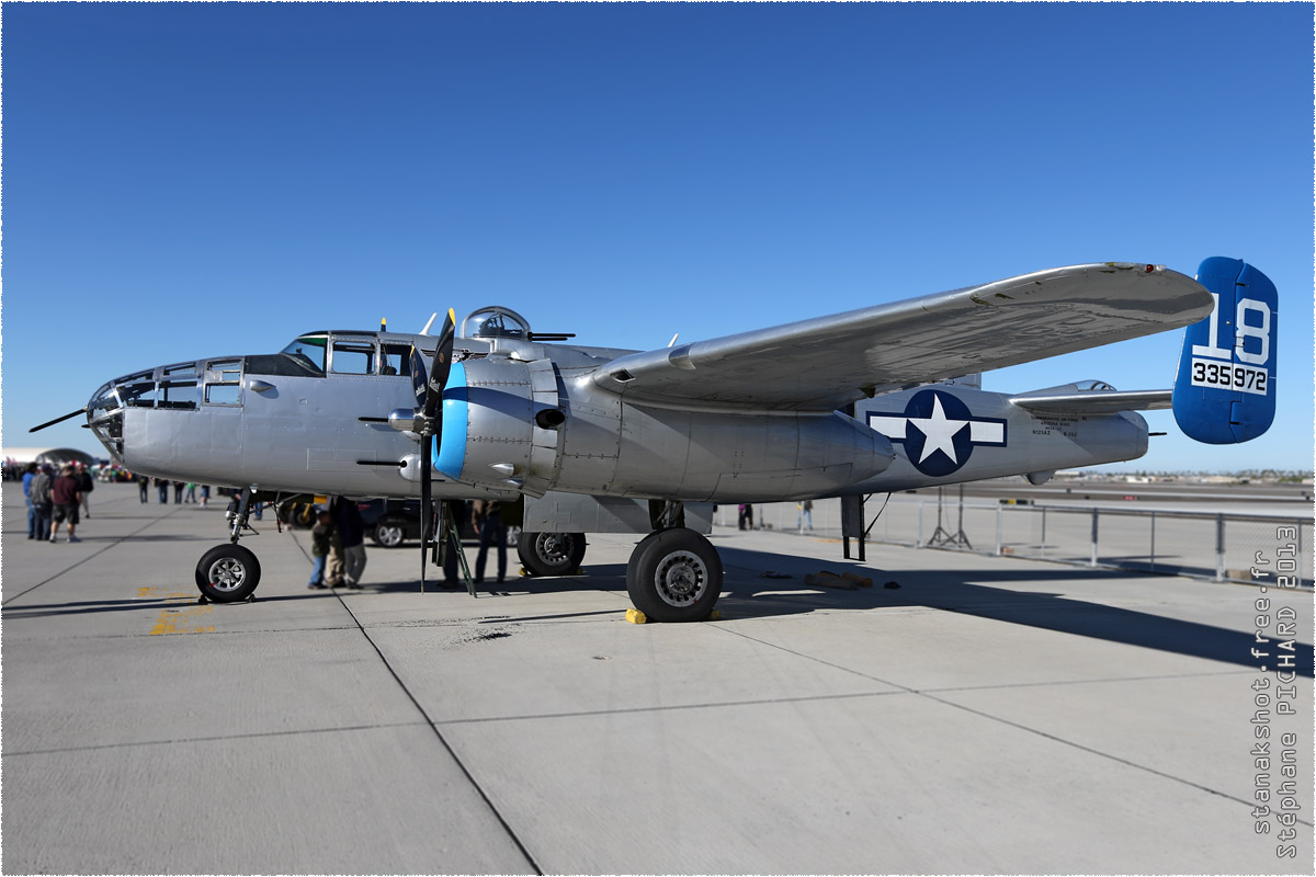 tof#1370 B-25 enregistré aux USA au statique à Yuma (AZ, USA) en 2013