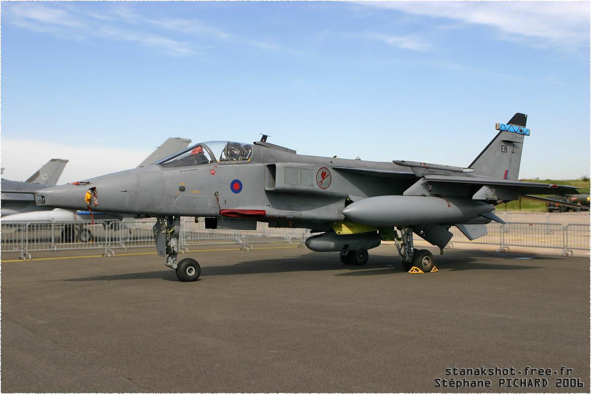 tof#1417 Jaguar de la Force aérienne royale britannique au statique à Orléans (FRA) en 2006