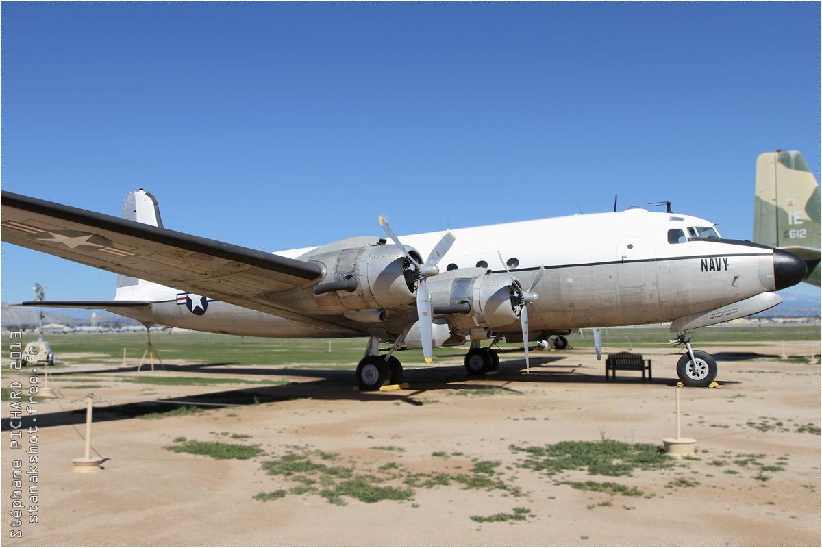 tof#1430 DC-4 enregistré aux USA au statique à Riverside (CA, USA) en 2013