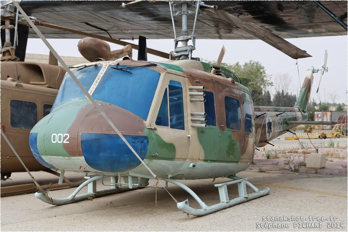 tof#1444 Bell 205 de la Force aérienne israélienne au statique à Hatzerim Museum (ISR) en 2014