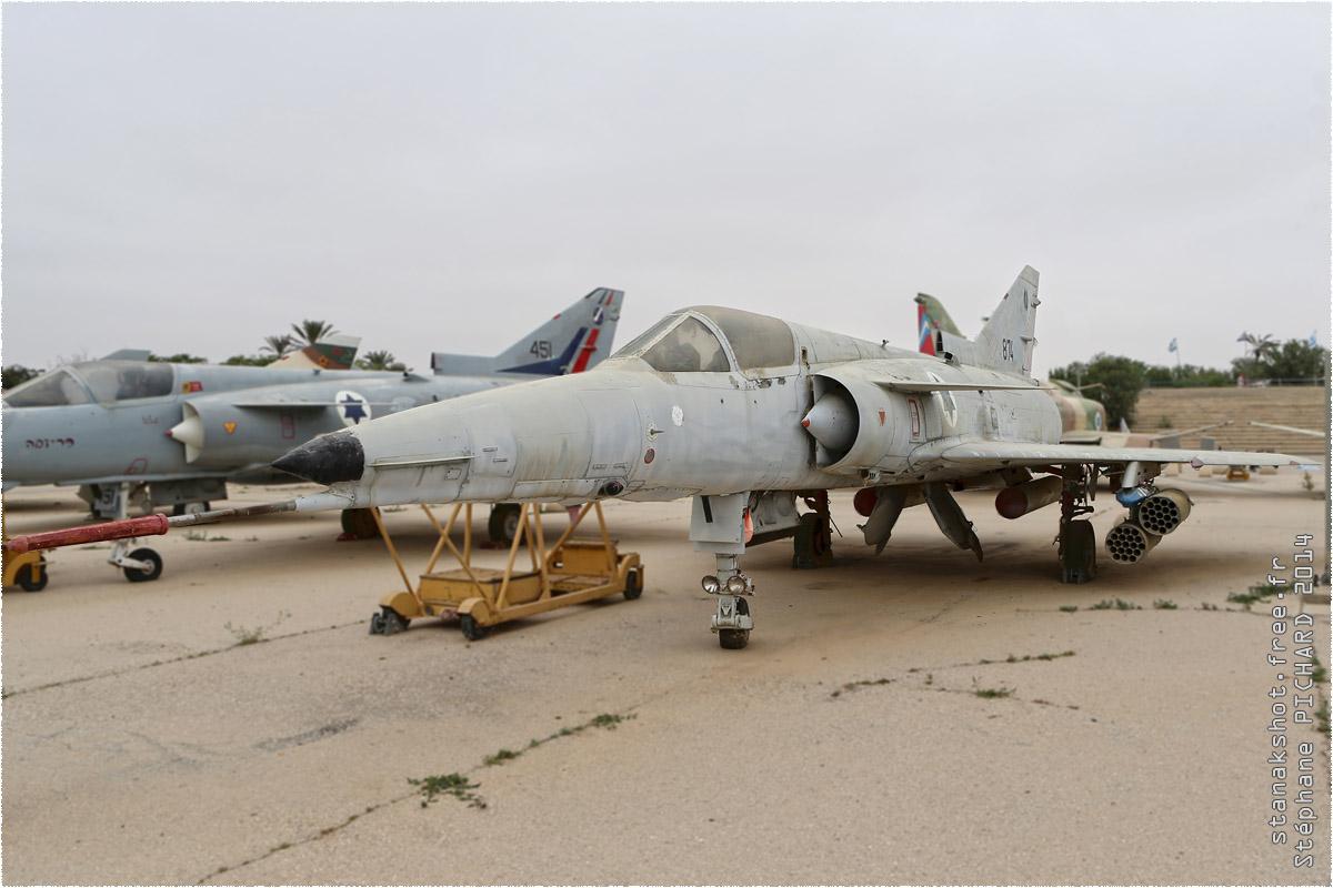 tof#1588 Kfir de la Force aérienne israélienne au statique à Hatzerim Museum (ISR) en 2014