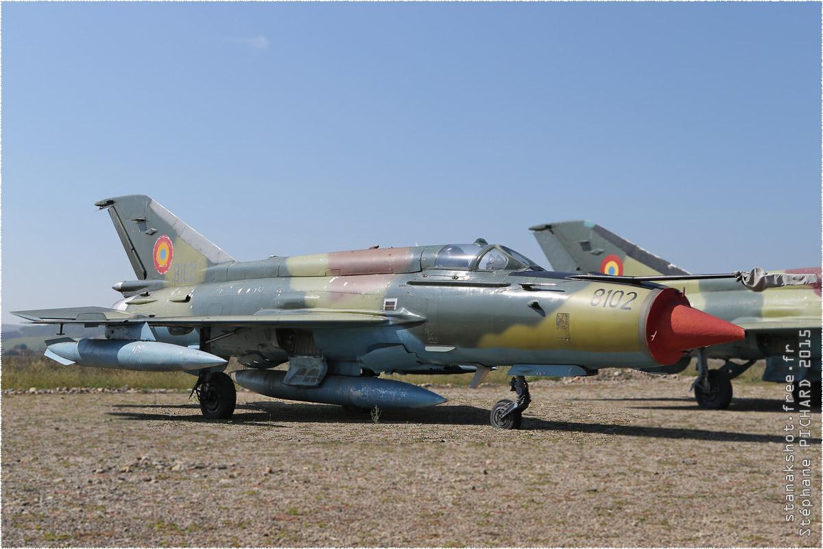 tof#1660 MiG-21 de la Force aérienne roumaine au statique à Câmpia Turzii (ROU) en 2015