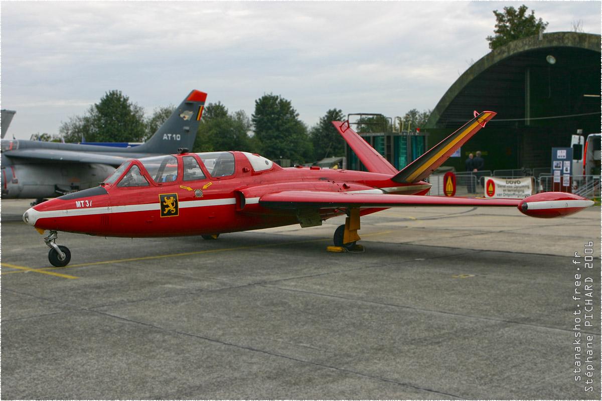 tof#1690 Fouga de la Force aérienne belge au statique à Beauvechain (Belgique) en 2006