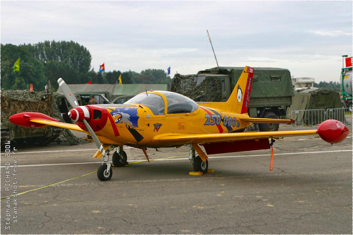 tof#1742 SF.260 de la Force aérienne belge au statique à Beauvechain (BEL) en 2006