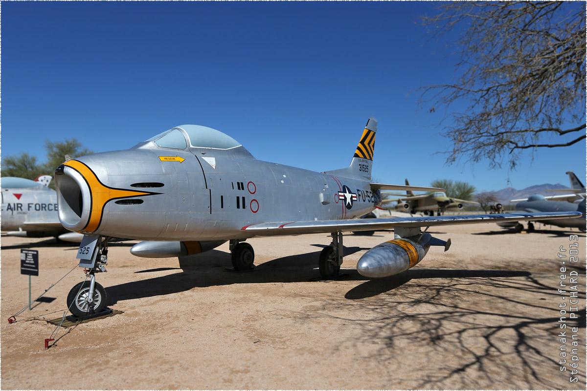 tof#10120 F-86 de l'US Air Force au statique à Davis-Monthan (AZ, USA) en 2013 Pima