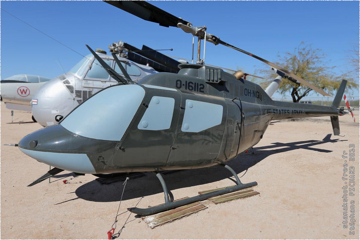 tof#10148 Bell 206 de l'Armée de terre américaine au statique à Davis-Monthan (AZ, USA) en 2013 Pima