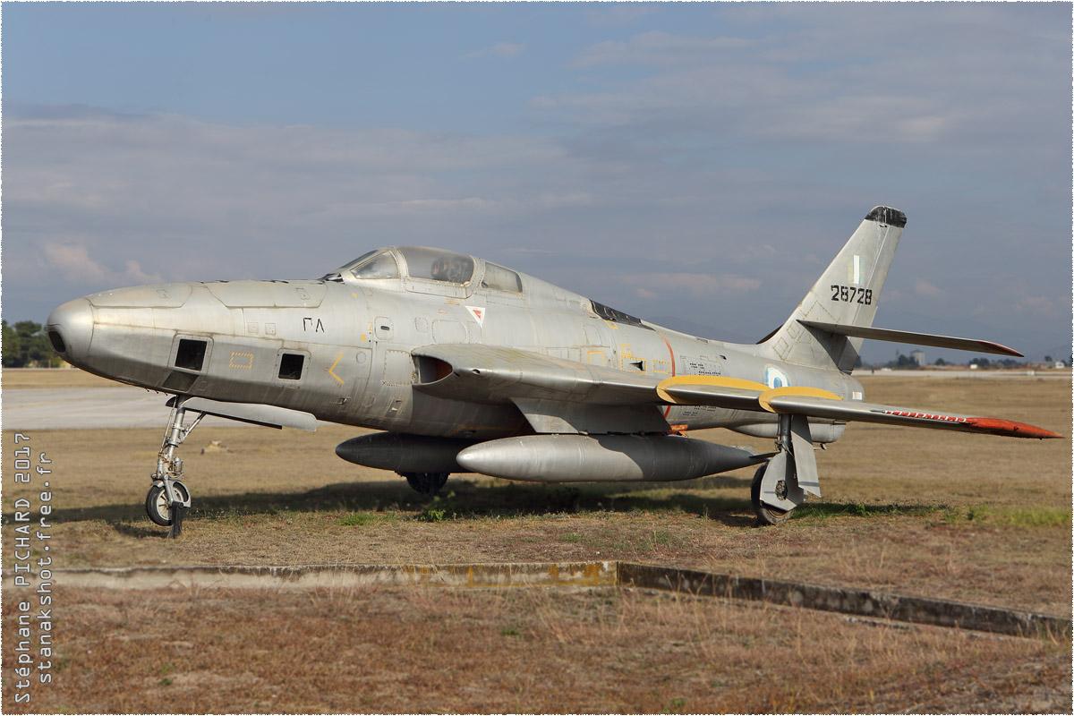 tof#10198 F-84 de la Force aérienne grecque au statique à Larissa (GRC) en 2017