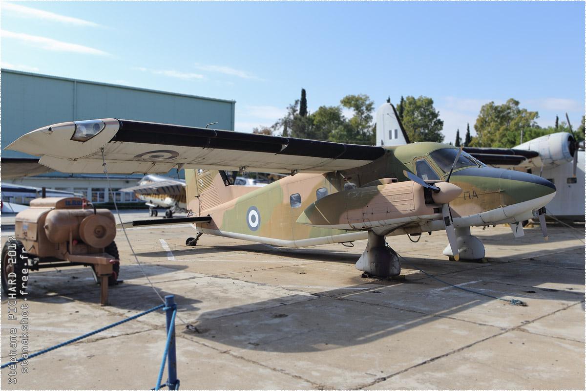 tof#10238 Do28 de la Force aérienne grecque au statique à Tatoi (GRC) en 2017