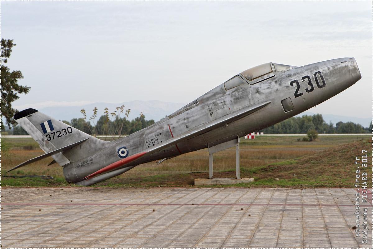 tof#10337 F-84 de la Force aérienne grecque au statique à Araxos (GRC) en 2017