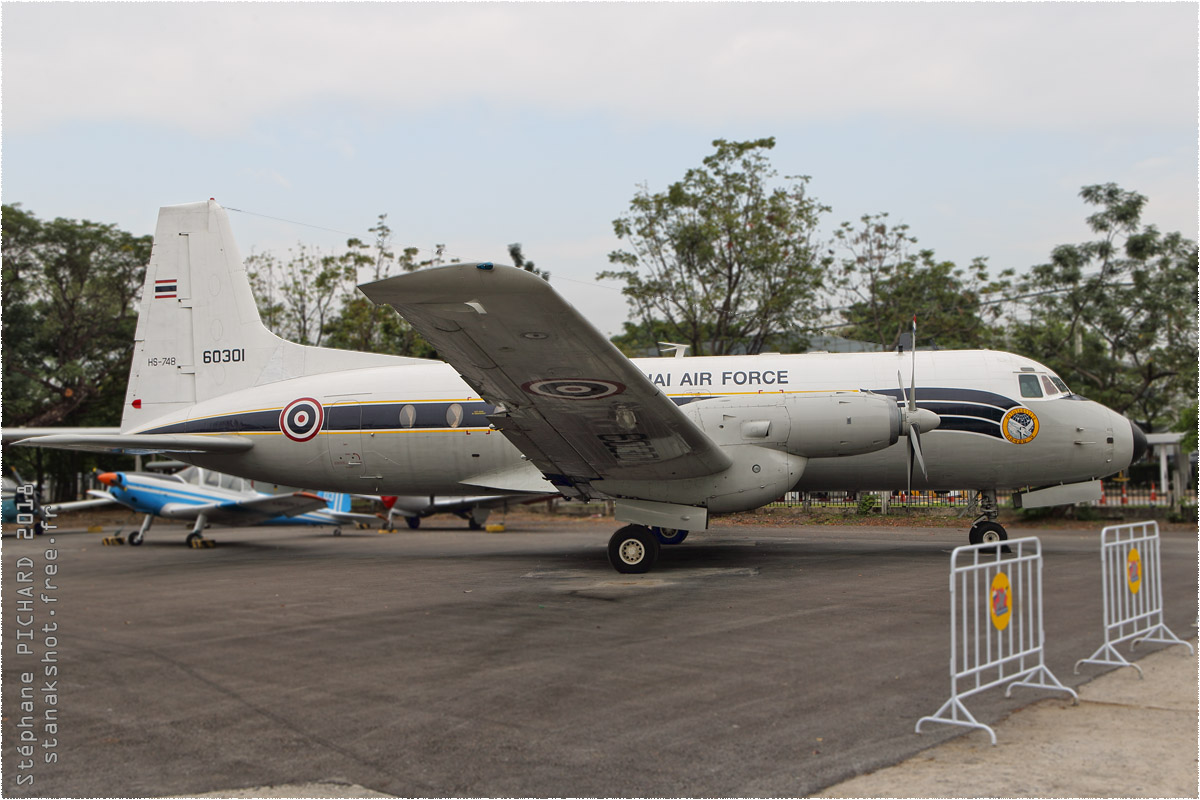tof#10415 HS-748 de la Force aérienne royale thaïlandaise au statique à Bangkok (THA) en 2018