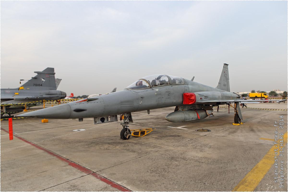 tof#10510 F-5 de la Force aérienne royale thaïlandaise au statique à Bangkok-Don Muang (THA) en 2018
