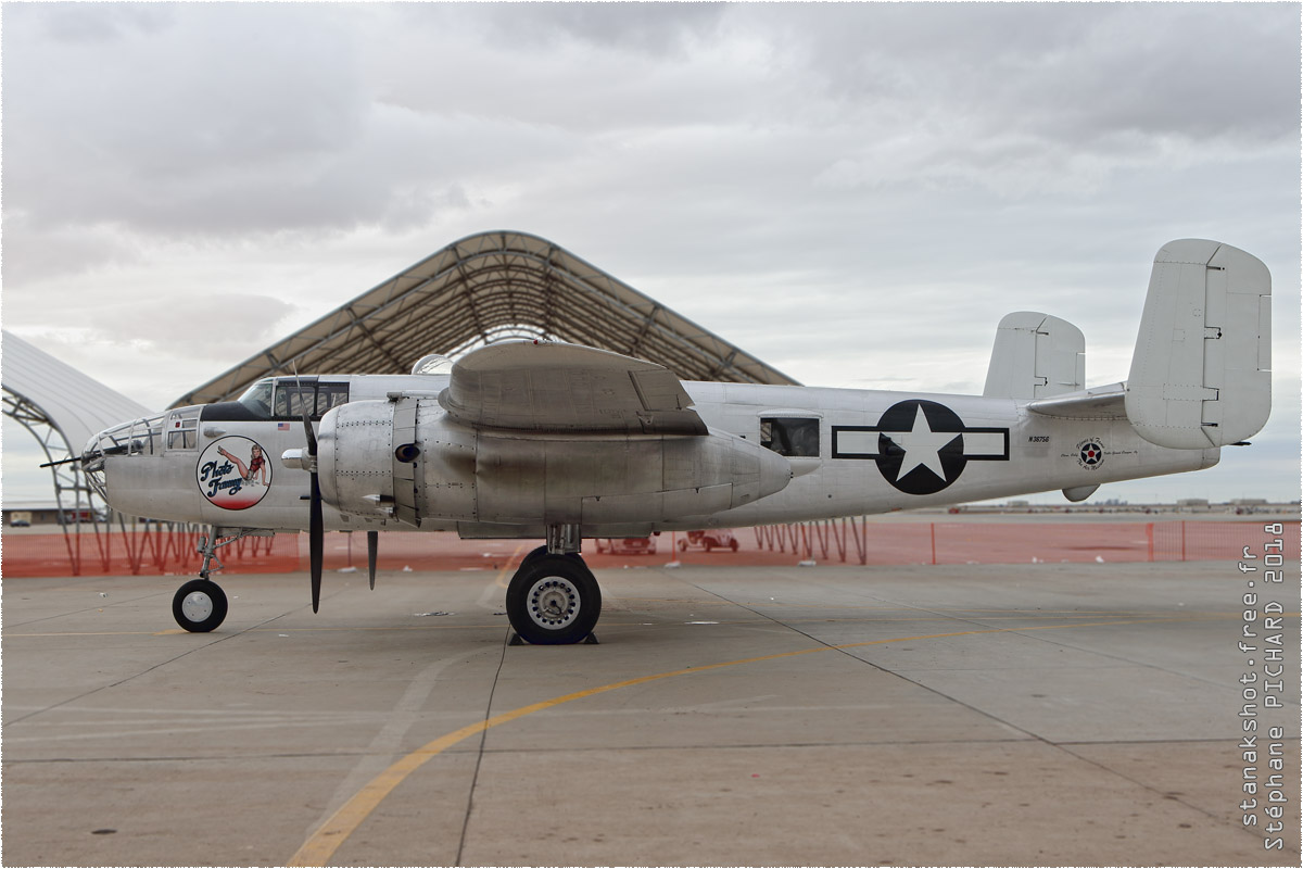 tof#10547 B-25 enregistré aux USA au statique à El Centro (CA, USA) en 2018