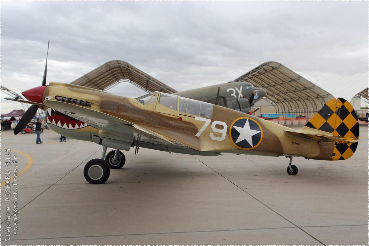 tof#10575 P-40 enregistré aux USA au statique à El Centro (CA, USA) en 2018
