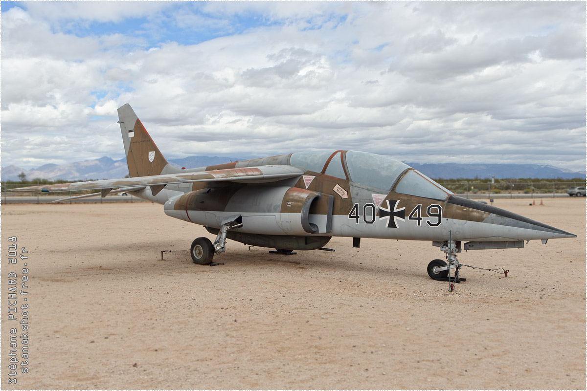 tof#10595 Alphajet enregistré aux USA au statique à Davis-Monthan (AZ, USA) en 2018 Pima