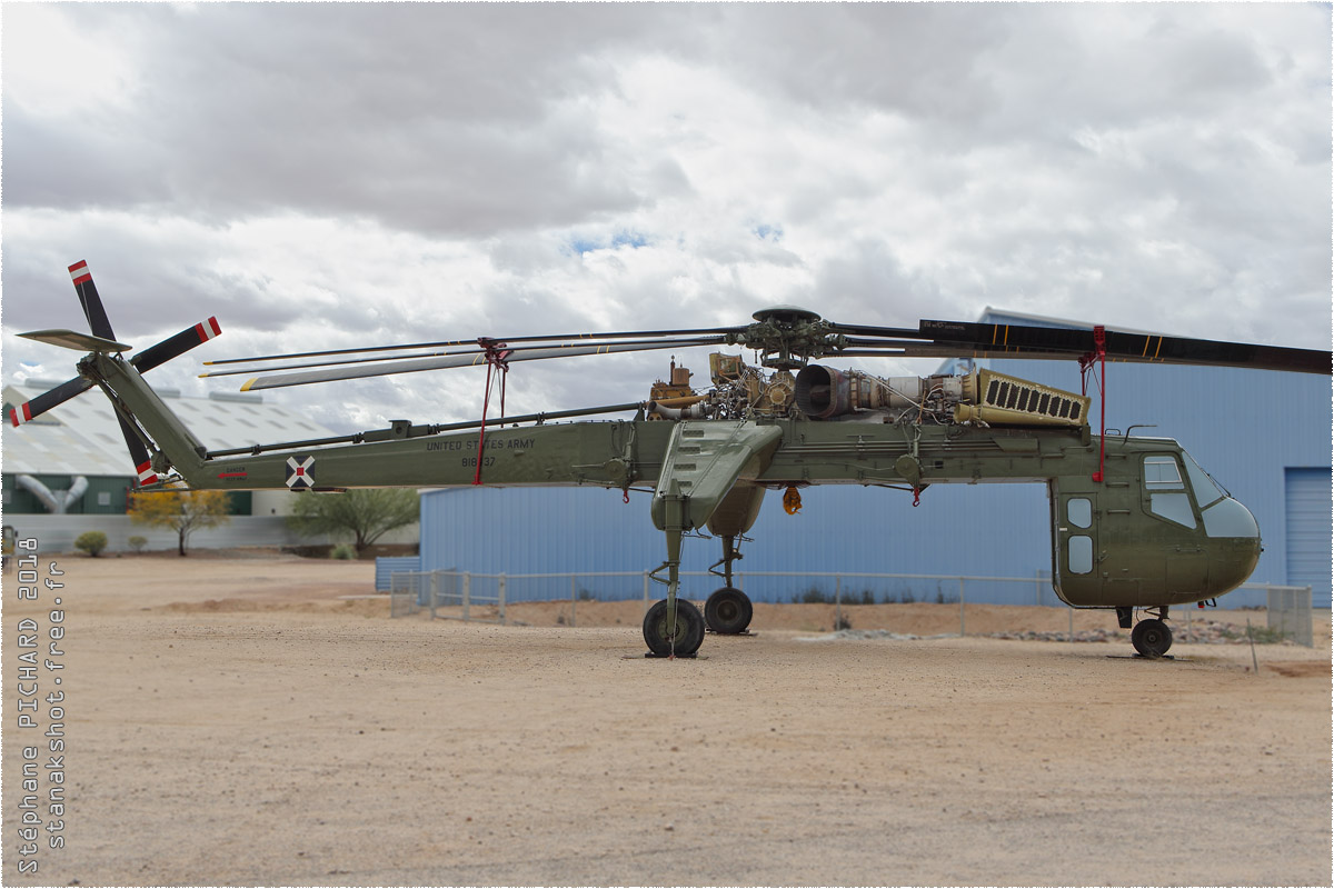 tof#10610 H-54 de l'Armée de terre américaine au statique à Pima Air & Space Museum, Tucson ()