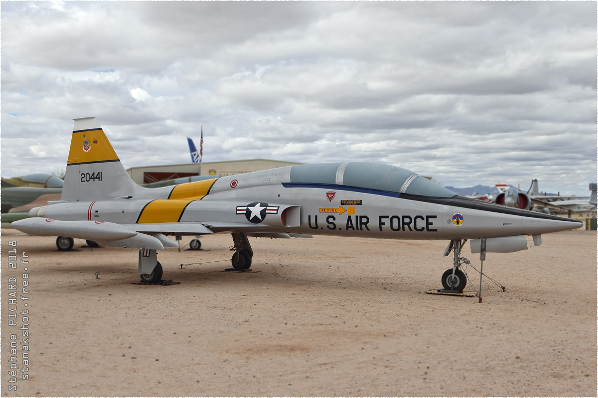 tof#10620 F-5 de l'US Air Force au statique à Davis-Monthan (AZ, USA) en 2018 Pima