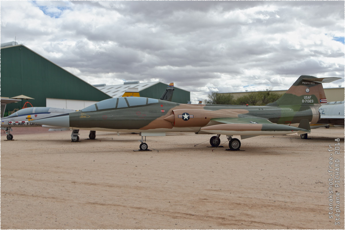 tof#10627 F-104 de l'US Air Force au statique au Pima Air & Space Museum de Tucson ()