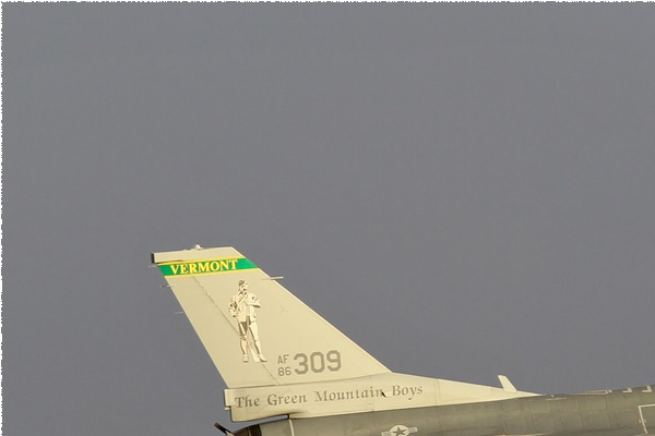 Diapo10724 General Dynamics F-16C Fighting Falcon 86-0309, Nellis (NV, USA) Red Flag 2018