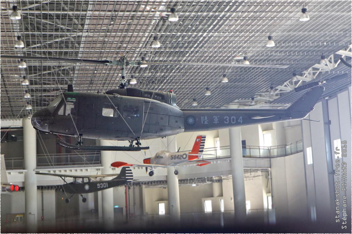 tof#11383 Bell 205 du Corps d'aviation de l'Armée de la République de Chine au statique à Gangshan (TWN) en 2018