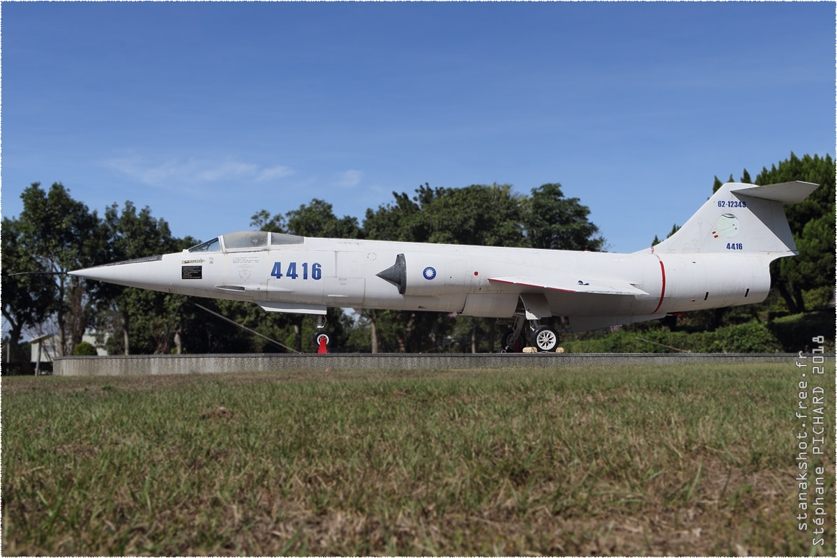 tof#11400 F-104 de la Force aérienne de la République de Chine au statique à Dajia (Taiwan)