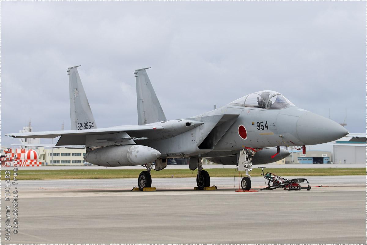 tof#11440 F-15 de la Force aérienne d'autodéfense japonaise au statique à Naha (JPN) en 2018