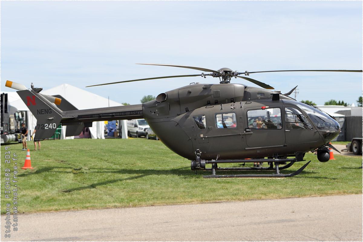 tof#2081 EC145 de l'Armée de terre américaine au statique à Oshkosh (WI, USA) en 2019