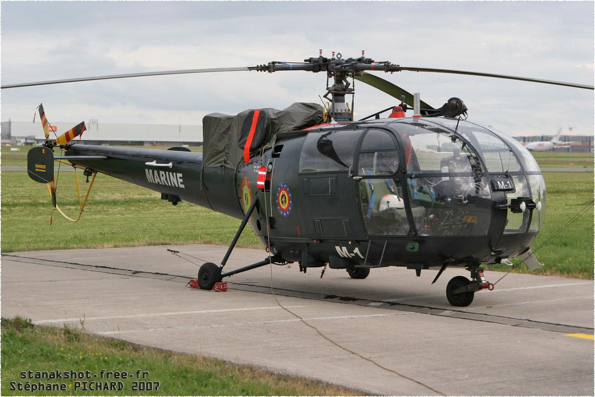 tof#2225 Alouette III de la Marine belge au statique à Liège (Belgique) en 2007