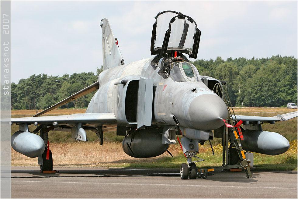 tof#2803 F-4 de la Force aérienne grecque au statique verrière ouverte à Kleine-Brogel (Belgique) en 2007