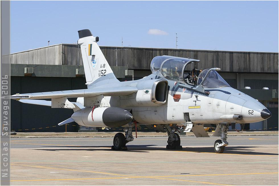tof#3149 AMX de la Force aérienne brésilienne au statique verrière ouverte à Anapolis (Brésil - air force) en 2006