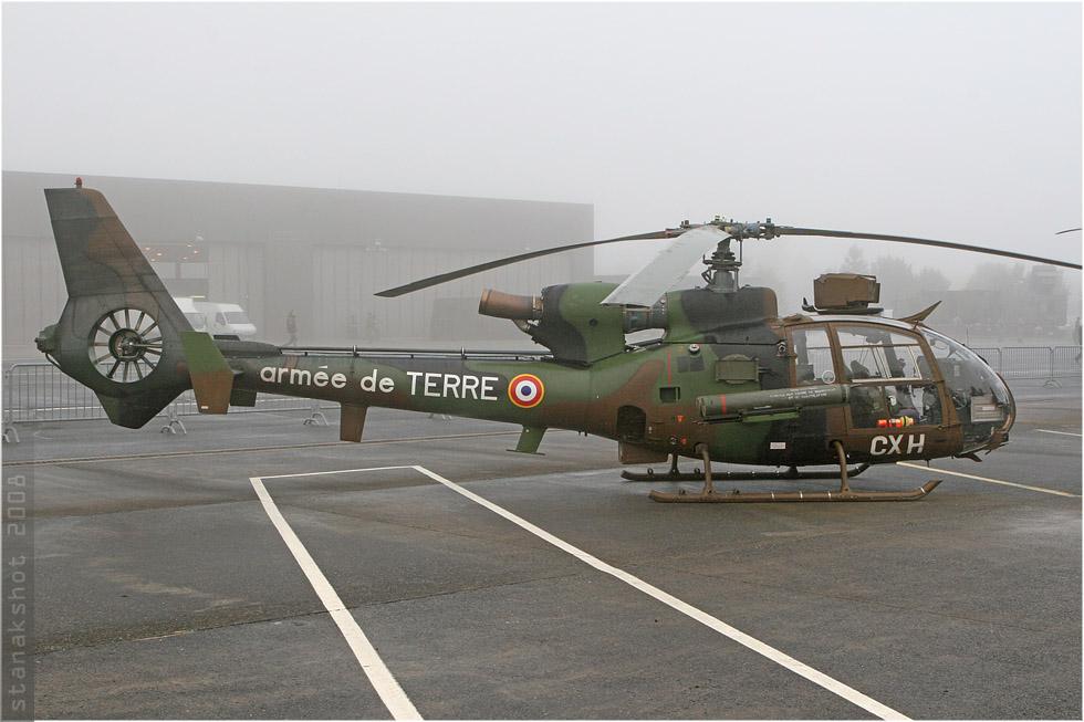 tof#3914 Gazelle de l'Aviation légère de l'Armée de terre française au statique à Reims (France) lors du PCTAM 2008