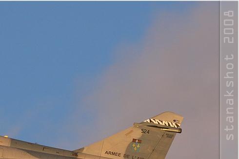 Diapo3282 Dassault Mirage 2000B 524/5-OA, Orange (FRA) CdM 2008
