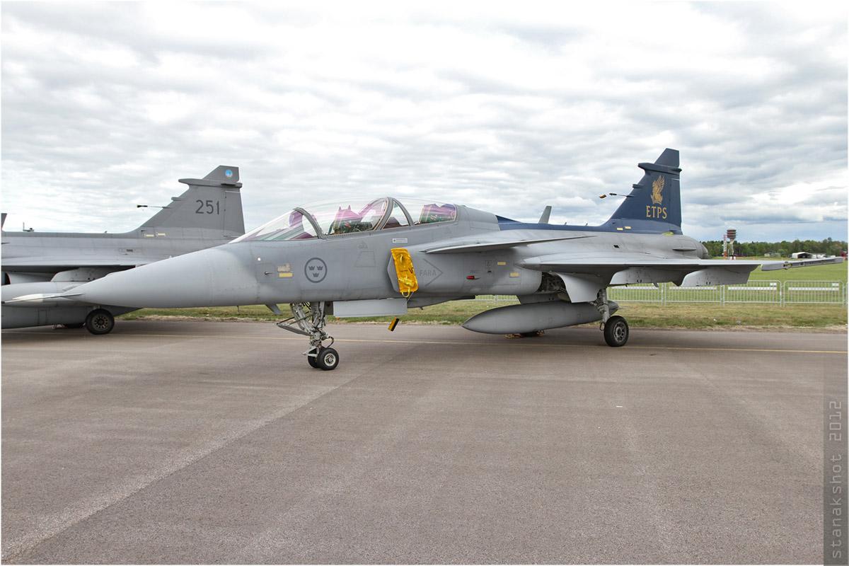 tof#5993 Gripen de la Force aérienne suédoise au statique à Linköping (SWE) en 2012