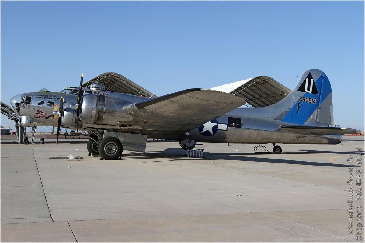 tof#6669 B-17 enregistré aux USA au statique à El Centro (CA, USA) en 2013
