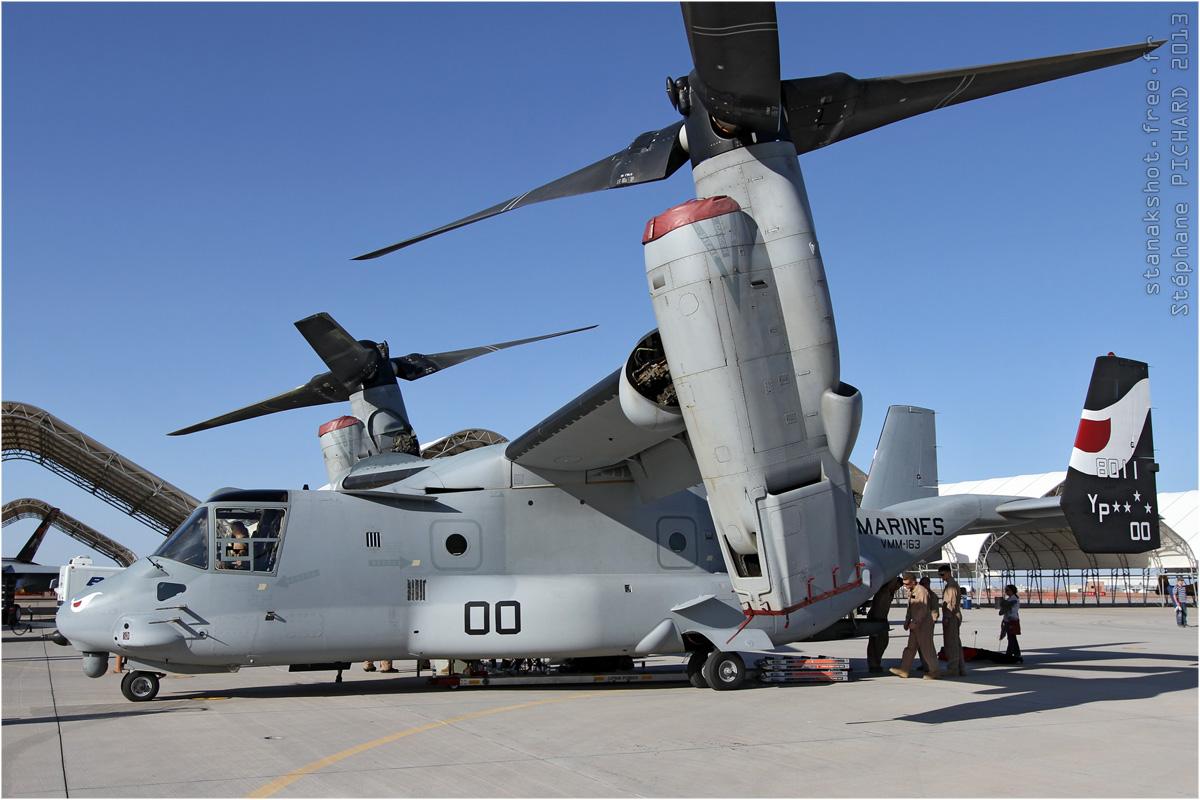 tof#6700 V-22 du Corps des Marines américain au statique à El Centro (CA, USA) en 2013