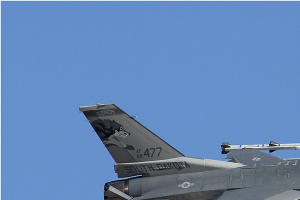 Diapo6484 General Dynamics F-16C Fighting Falcon 88-0477, Nellis (NV, USA) Red Flag 2013-3