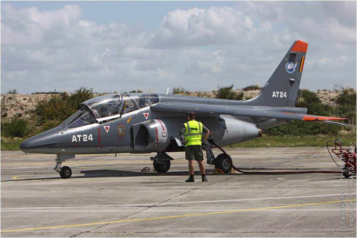 tof#7425 Alphajet de la Force aérienne belge au statique à Cazaux (France) en 2014