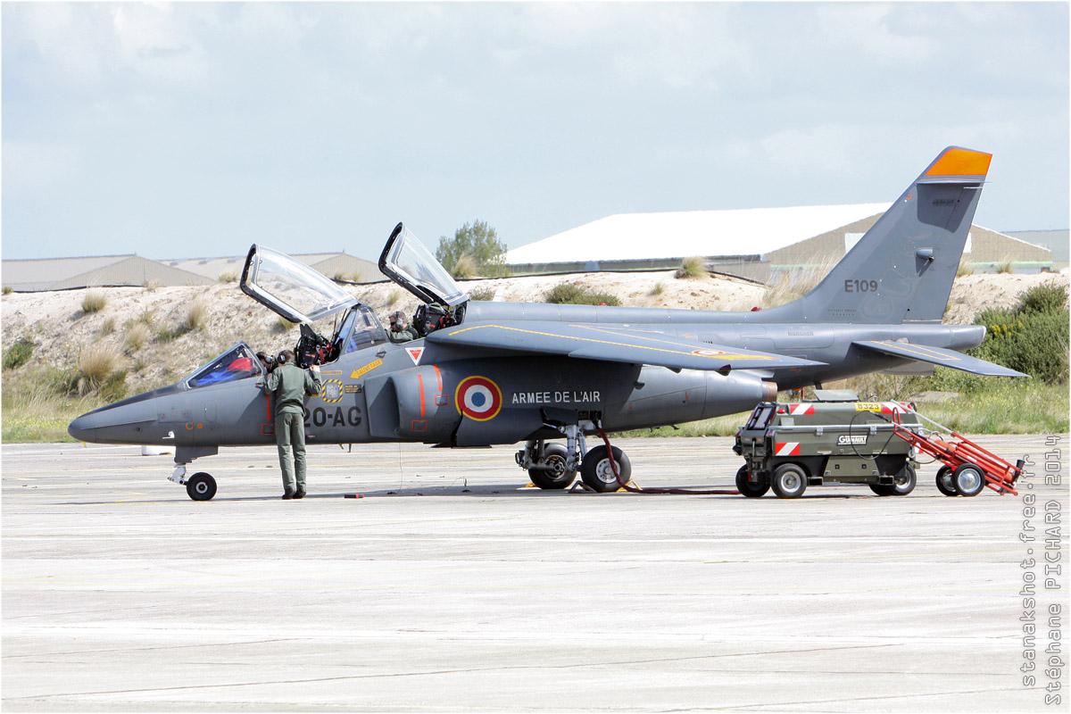 tof#7442 Alphajet de l'Armée de l'Air française au statique à Cazaux (France) en 2014