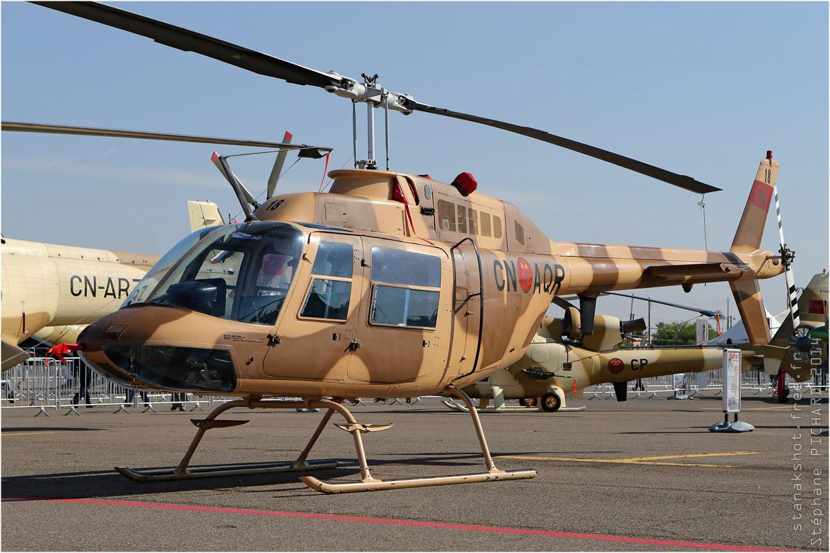 tof#7503 Bell 206 des Forces royales air du  Maroc au statique à Marrakech (Maroc) en 2014