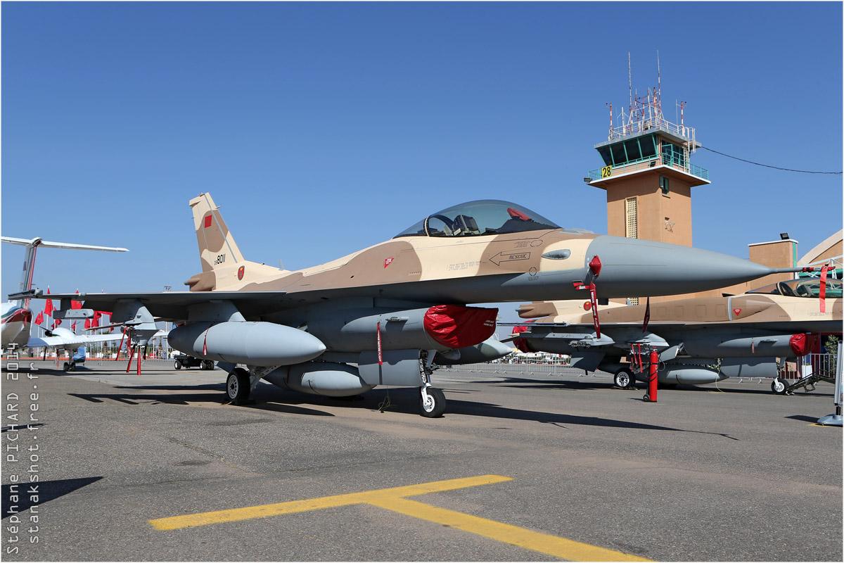 tof#7520 F-16 des Forces royales air du  Maroc au statique à Marrakech (Maroc) en 2014